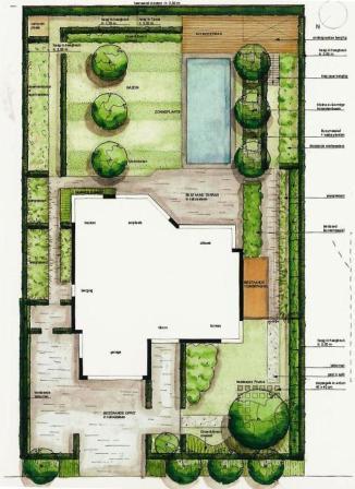 Tuinontwerp het uitwerken van een tuinidee de for Plattegrond tuin maken